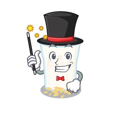 A picture of oats milk performance as a Magician. Vector illustration