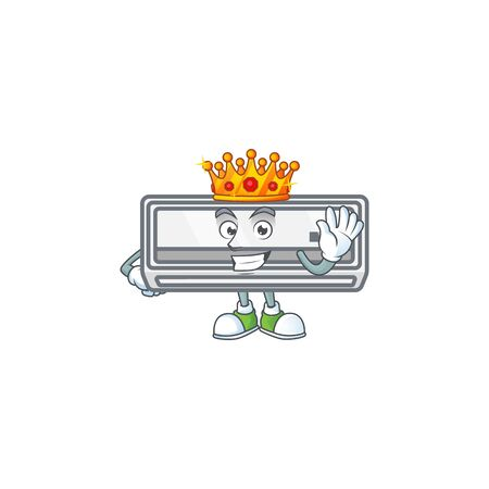 A dazzling of air conditioner stylized of King on cartoon mascot design Ilustrace