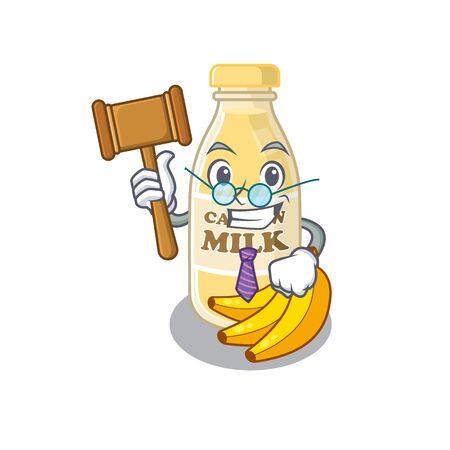 Smart Judge cashew milk in mascot cartoon character style