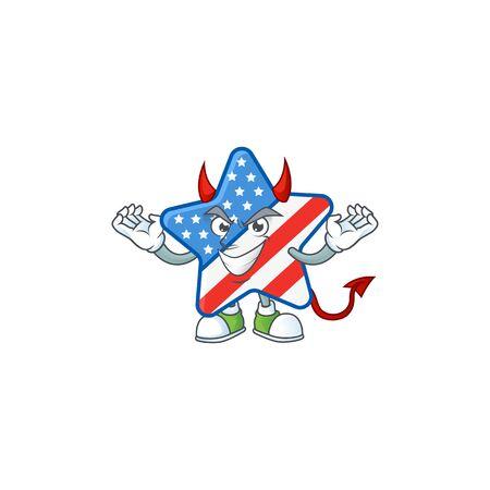 A cruel devil USA star Cartoon character design Иллюстрация