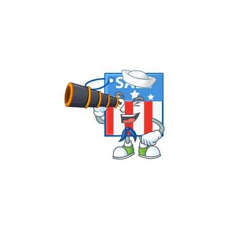 A picture of USA price tag Sailor style with binocular