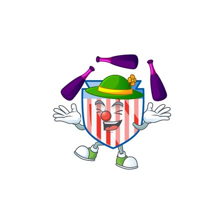 Smart USA stripes shield cartoon character style playing Juggling
