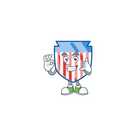 Call me funny USA stripes shield mascot picture style Ilustrace