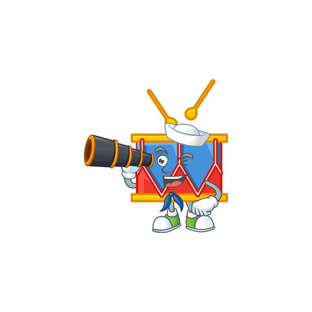 A picture of independence day drum Sailor style with binocular. Vector illustration