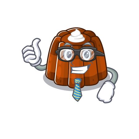 cool and smart Businessman chocolate pudding wearing glasses
