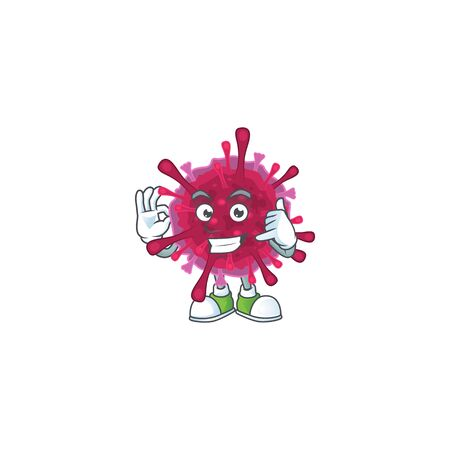 Call me funny amoeba coronaviruses mascot picture style Illustration