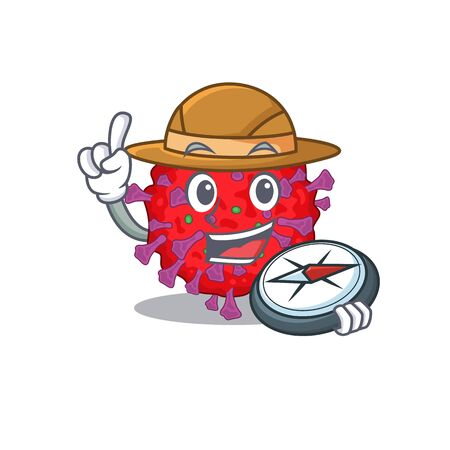 Coronavirus particle an experienced explorer with a compass