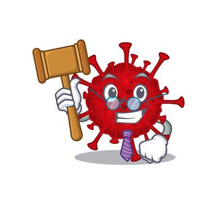 Charismatic Judge betacoronavirus cartoon character design wearing cute glasses Vektoros illusztráció