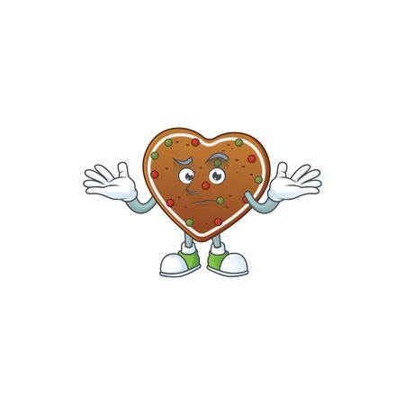 A picture of smirking gingerbread love cartoon character design style 일러스트