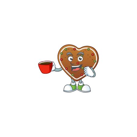 Gingerbread love mascot design style showing an Okay gesture