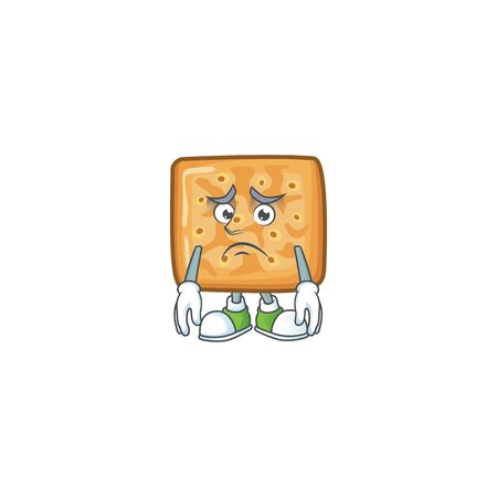 Crackers mascot design style with worried face