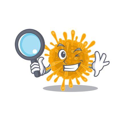Coronaviruses in Smart Detective picture character design