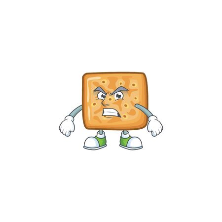 Charming crackers mascot design style waving hand