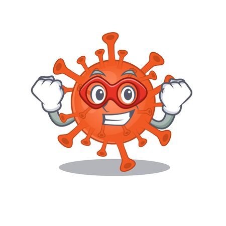 A picture of deadly corona virus in a Super hero cartoon character