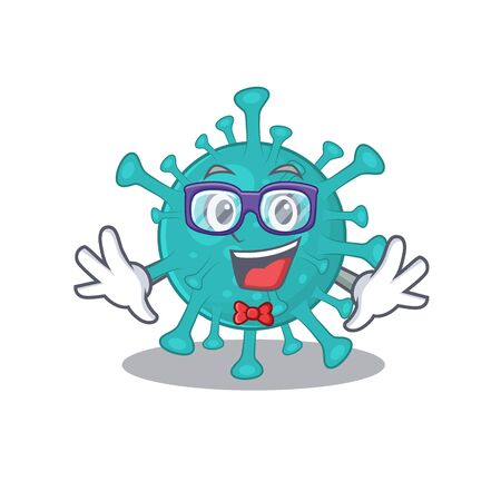 Super Funny Geek corona zygote virus cartoon character design  イラスト・ベクター素材