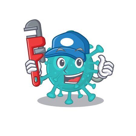 Smart Plumber corona zygote virus on cartoon character design