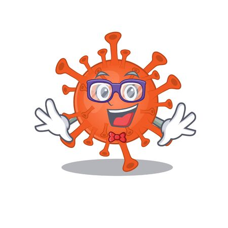 Super Funny Geek deadly corona virus cartoon character design