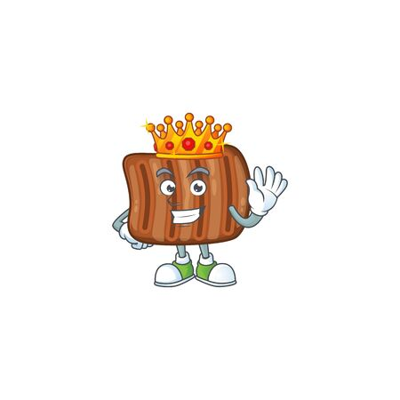 A Charismatic King of roasted beef cartoon character design