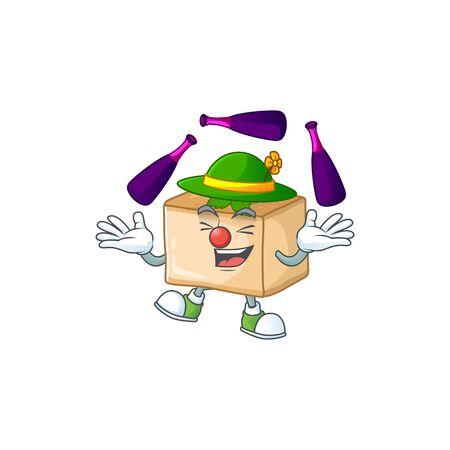 Basbousa cartoon character concept love playing Juggling. Vector illustration