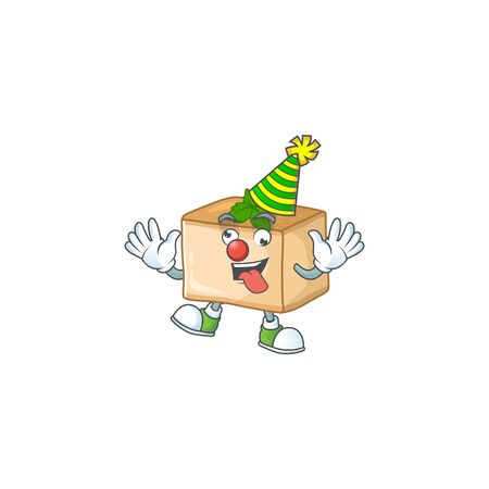 Cute and Funny Clown basbousa presented in cartoon character design concept. Vector illustration