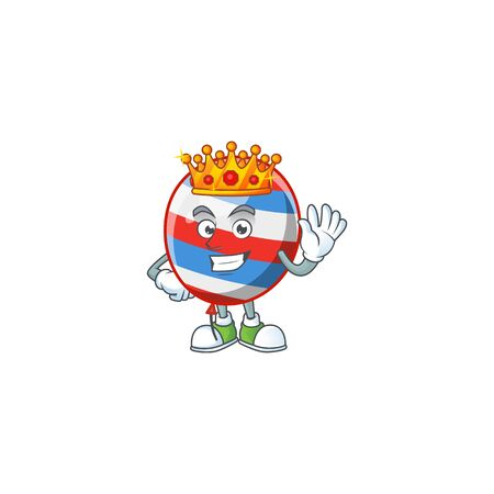 A Charismatic King of independence day balloon cartoon character design