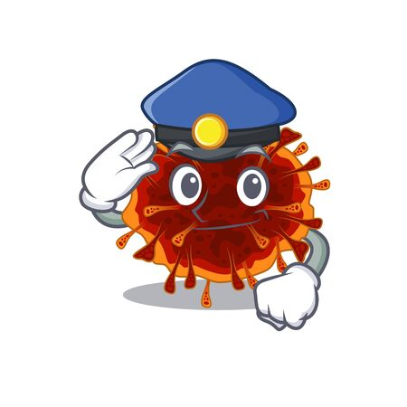 A picture of delta coronavirus performed as a Police officer. Vector illustration 向量圖像
