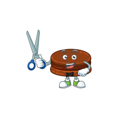 Cool Barber chocolate alfajor mascot design style  イラスト・ベクター素材