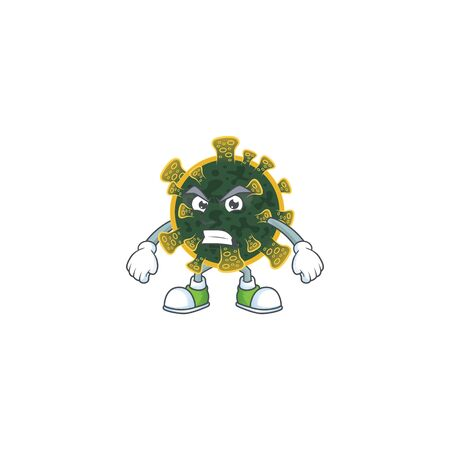 Charming new coronavirus mascot design style waving hand