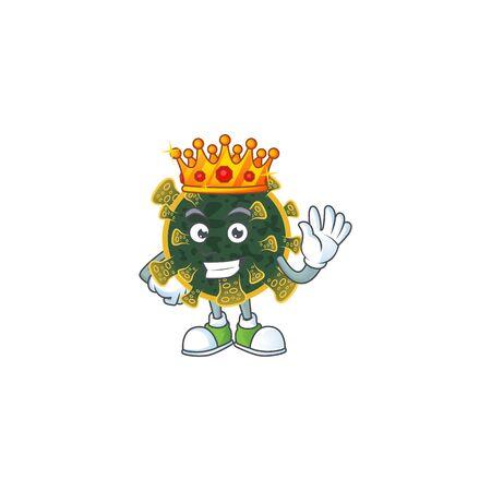 A Charismatic King of new coronavirus cartoon character design