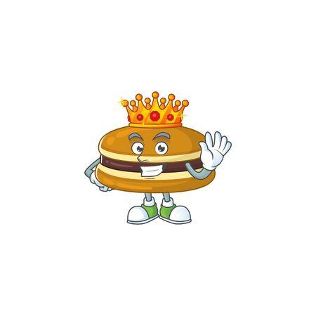A Charismatic King of dorayaki cartoon character design Illusztráció