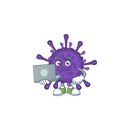 smart student of coronavirinae using a laptop