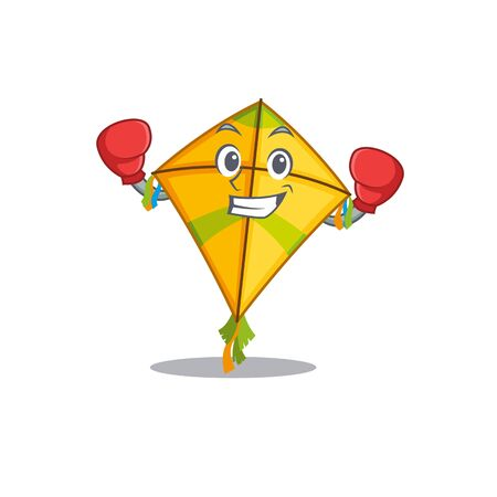 A sporty kite boxing mascot design style 向量圖像