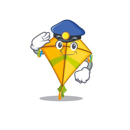 A picture of kite performed as a Police officer