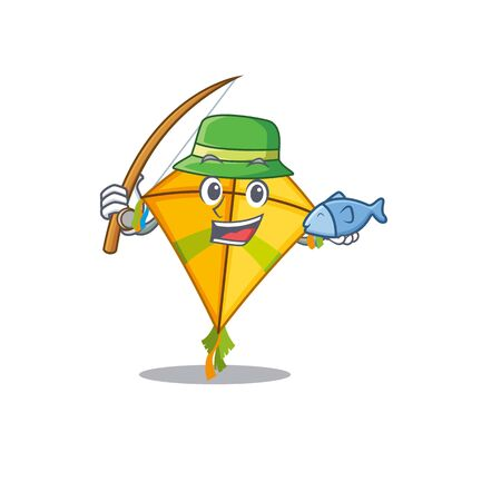 A Picture of funny Fishing kite design. Vector illustration