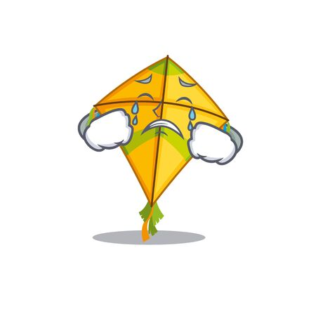 A Crying kite cartoon mascot design style. Vector illustration
