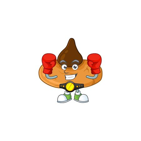 A sporty boxing of kiss cookies mascot design style. Vector illustration 向量圖像