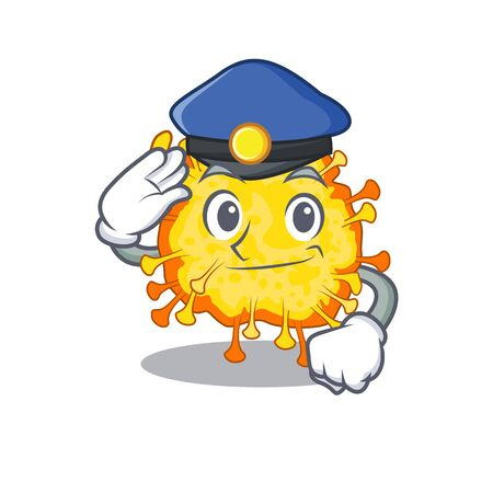 A picture of minacovirus performed as a Police officer. Vector illustration 向量圖像