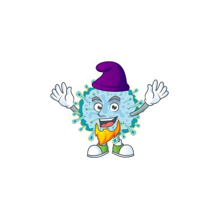 Cute cartoon design of coronavirus illness performed as an Elf. Vector illustration