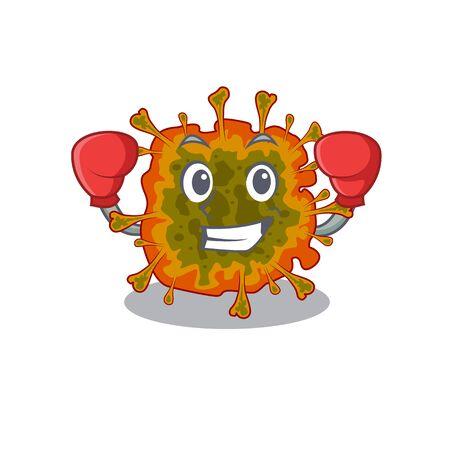 A sporty duvinacovirus boxing mascot design style