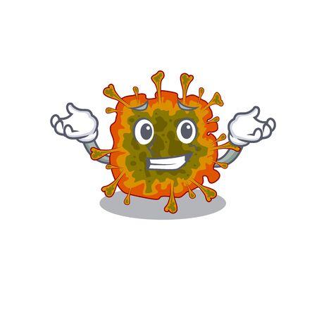 Happy face of duvinacovirus mascot cartoon style 向量圖像