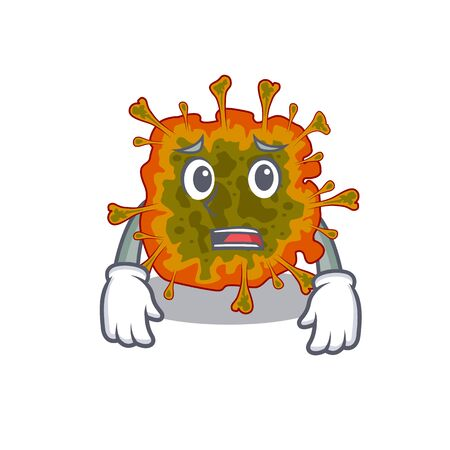 Cartoon picture of duvinacovirus showing anxious face