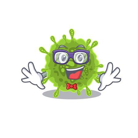 Super Funny Geek coronavirus cartoon character design