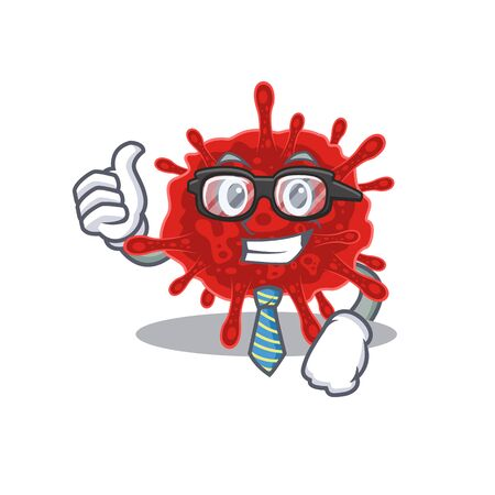 buldecovirus Businessman cartoon character with glasses and tie Illustration