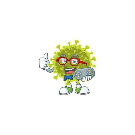 Talented global coronavirus outbreak gamer mascot design using controller