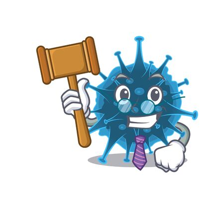 Charismatic Judge moordecovirus cartoon character design wearing cute glasses