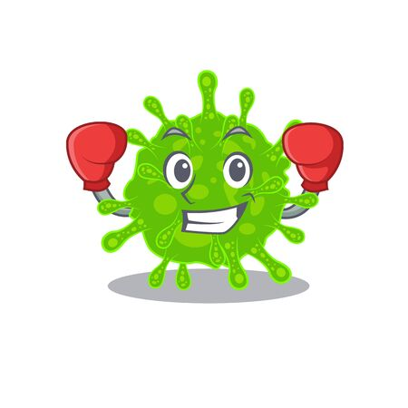 A sporty flaviviridae boxing mascot design style. Vector illustration