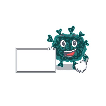 Herdecovirus cartoon character design style with board
