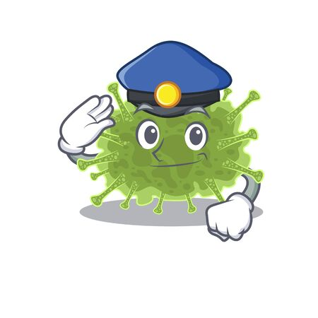 Police officer mascot design of haploviricotina wearing a hat