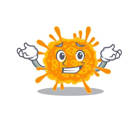 A picture of grinning nobecovirus cartoon design concept. Vector illustration 向量圖像