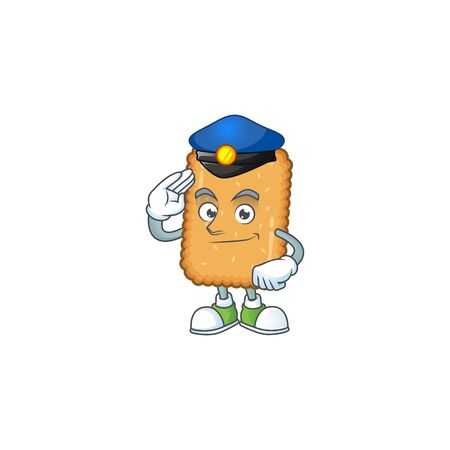 A dedicated Police officer of biscuit mascot design style. Vector illustration